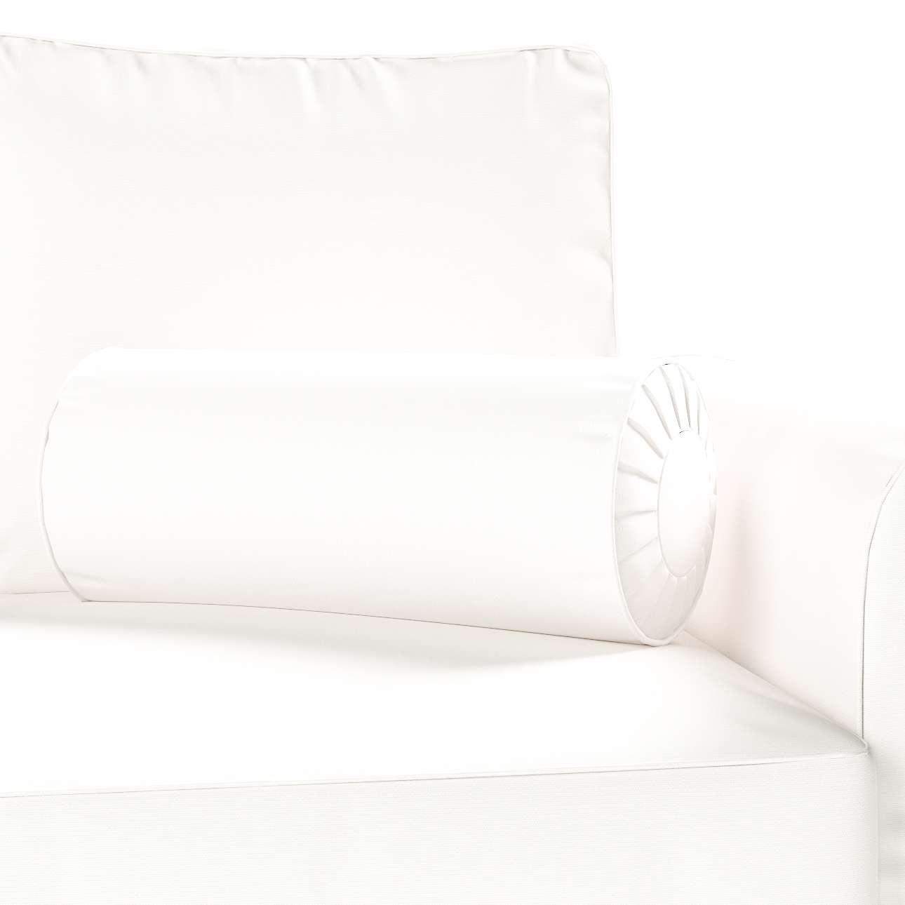 Nackkudde - pliserad kant Ø 20 x 50 cm i kollektionen Panama Cotton , Tyg: 702-34