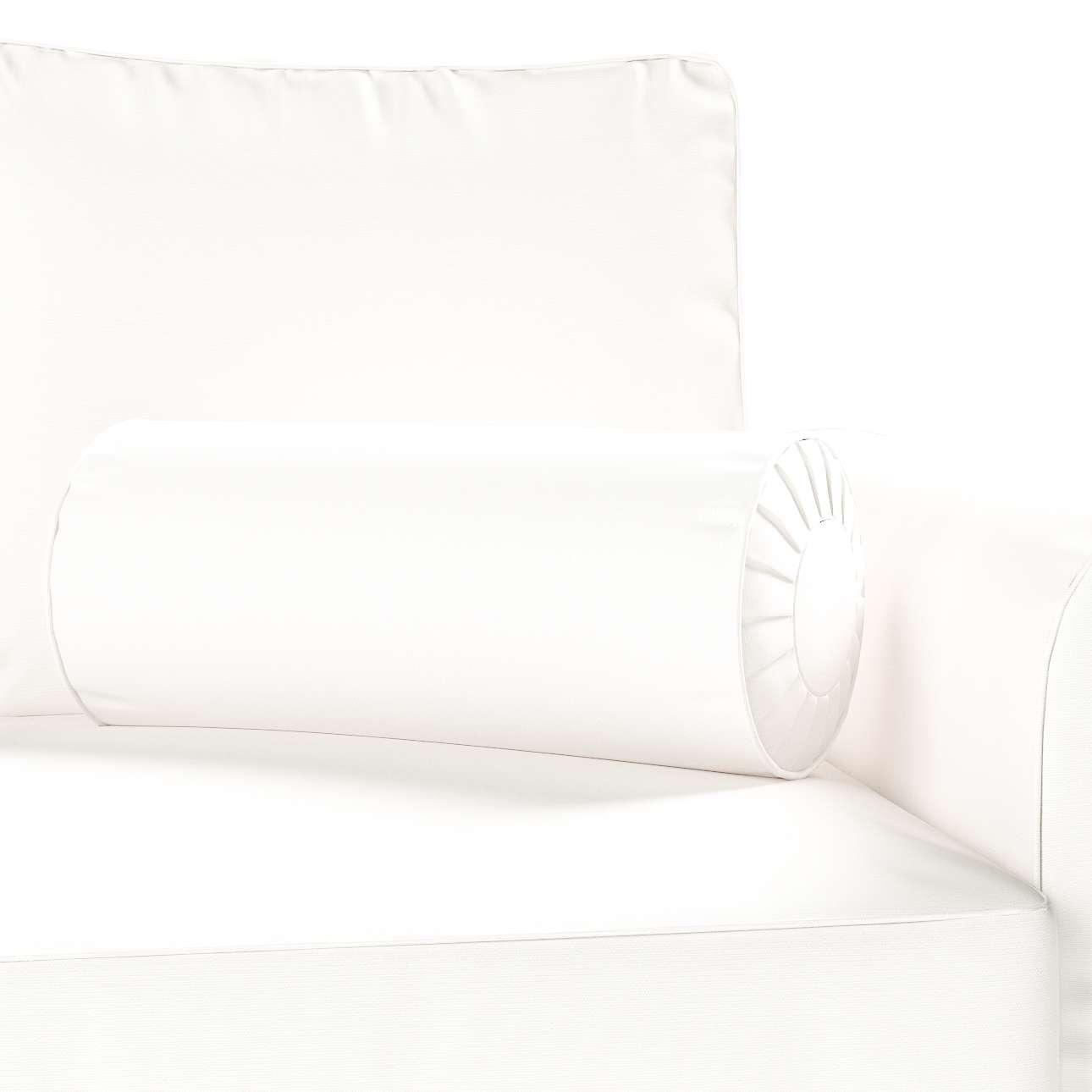 Poduszka wałek z zakładkami Ø 20 x 50 cm w kolekcji Cotton Panama, tkanina: 702-34