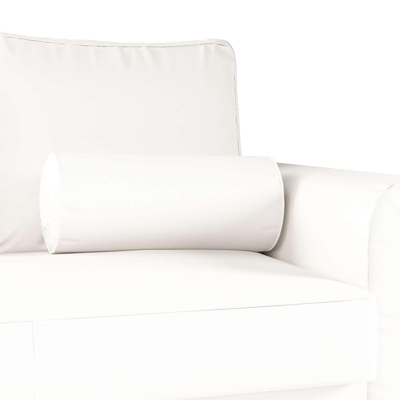 Poduszka wałek z zakładkami w kolekcji Cotton Panama, tkanina: 702-34