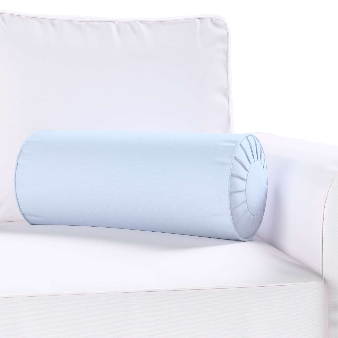 Bolster cushion with pleats in collection Loneta , fabric: 133-35