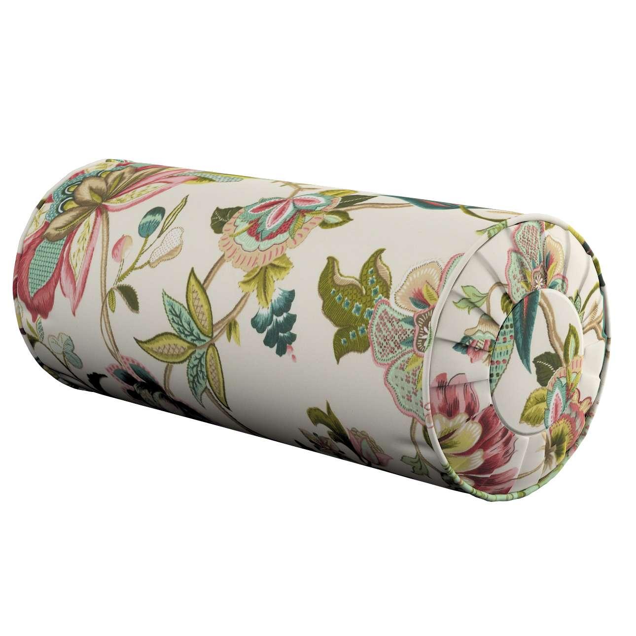 Ritinio formos  pagalvėlės užvalkalas su klostėmis Ø 20 x 50 cm kolekcijoje Londres, audinys: 122-00
