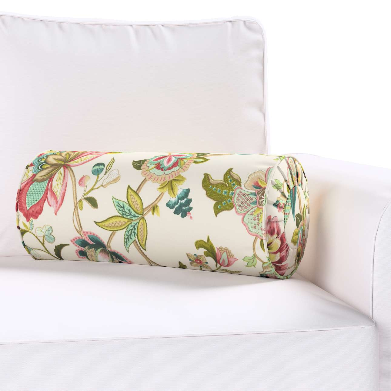 Poduszka wałek z zakładkami w kolekcji Londres, tkanina: 122-00