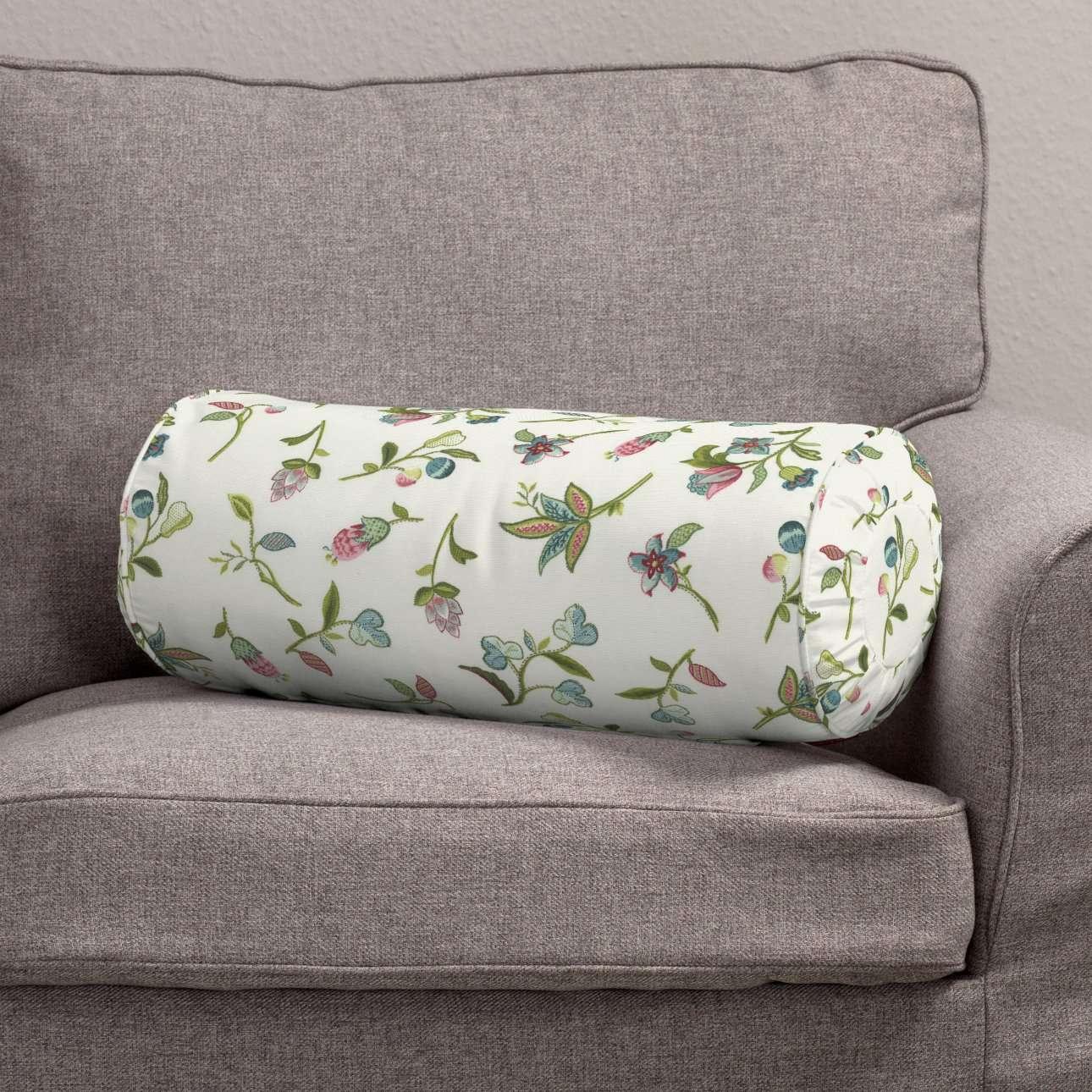 Poduszka wałek z zakładkami Ø20x50cm w kolekcji Londres, tkanina: 122-02