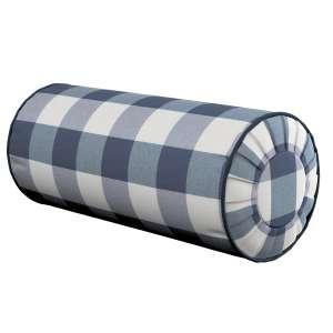 Ritinio formos  pagalvėlės užvalkalas su klostėmis Ø 20 x 50 cm kolekcijoje Quadro, audinys: 136-03