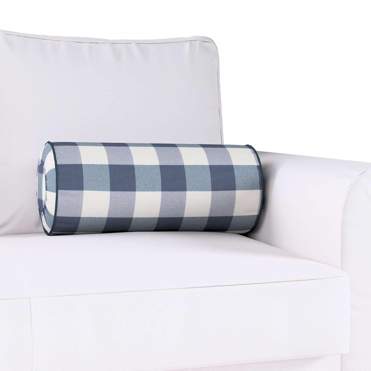 Poduszka wałek z zakładkami w kolekcji Quadro, tkanina: 136-03