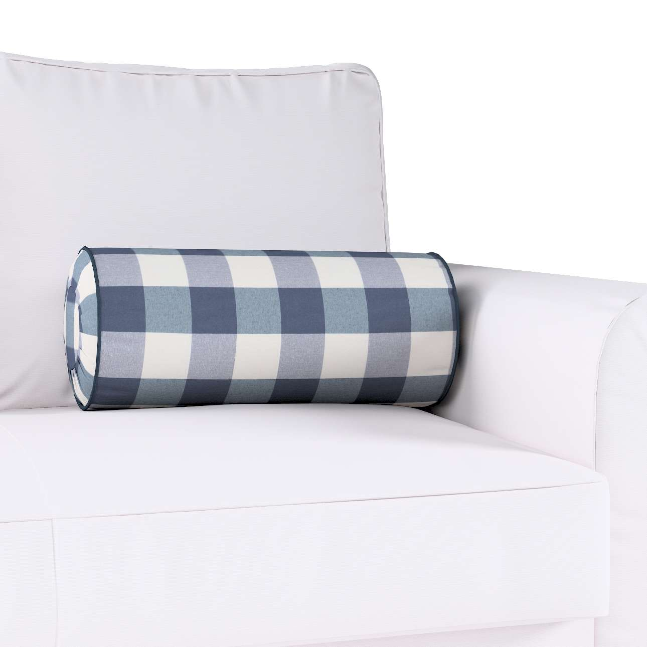 Ritinio formos  pagalvėlė su klostėmis Ø 20 x 50 cm kolekcijoje Quadro, audinys: 136-03