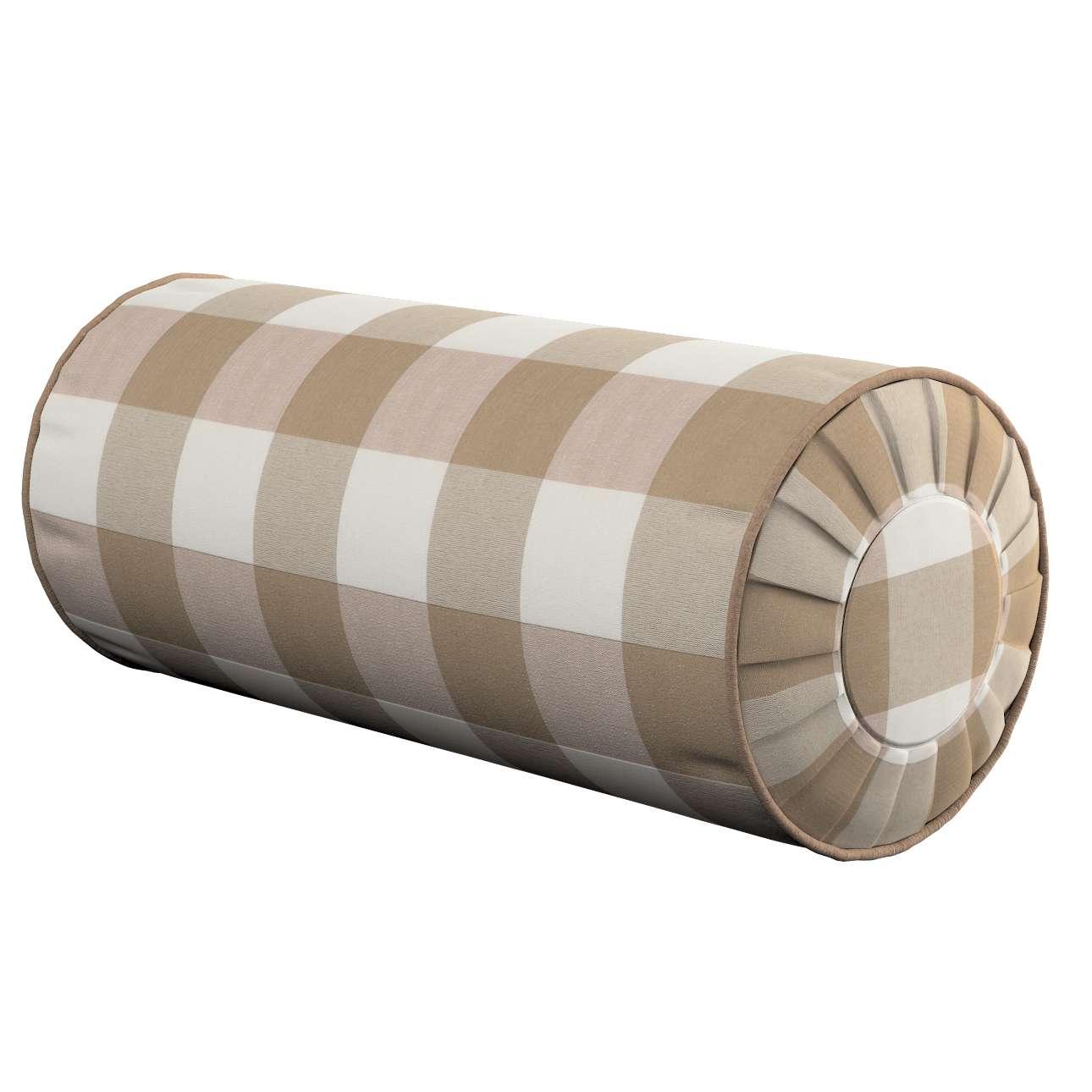 Ritinio formos  pagalvėlė su klostėmis Ø 20 x 50 cm kolekcijoje Quadro, audinys: 136-08
