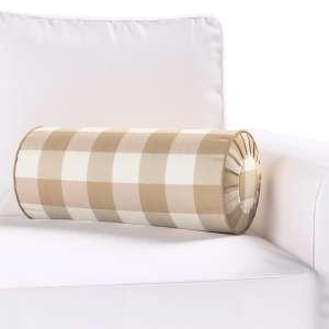 Ritinio formos  pagalvėlės užvalkalas su klostėmis Ø 20 x 50 cm kolekcijoje Quadro, audinys: 136-08
