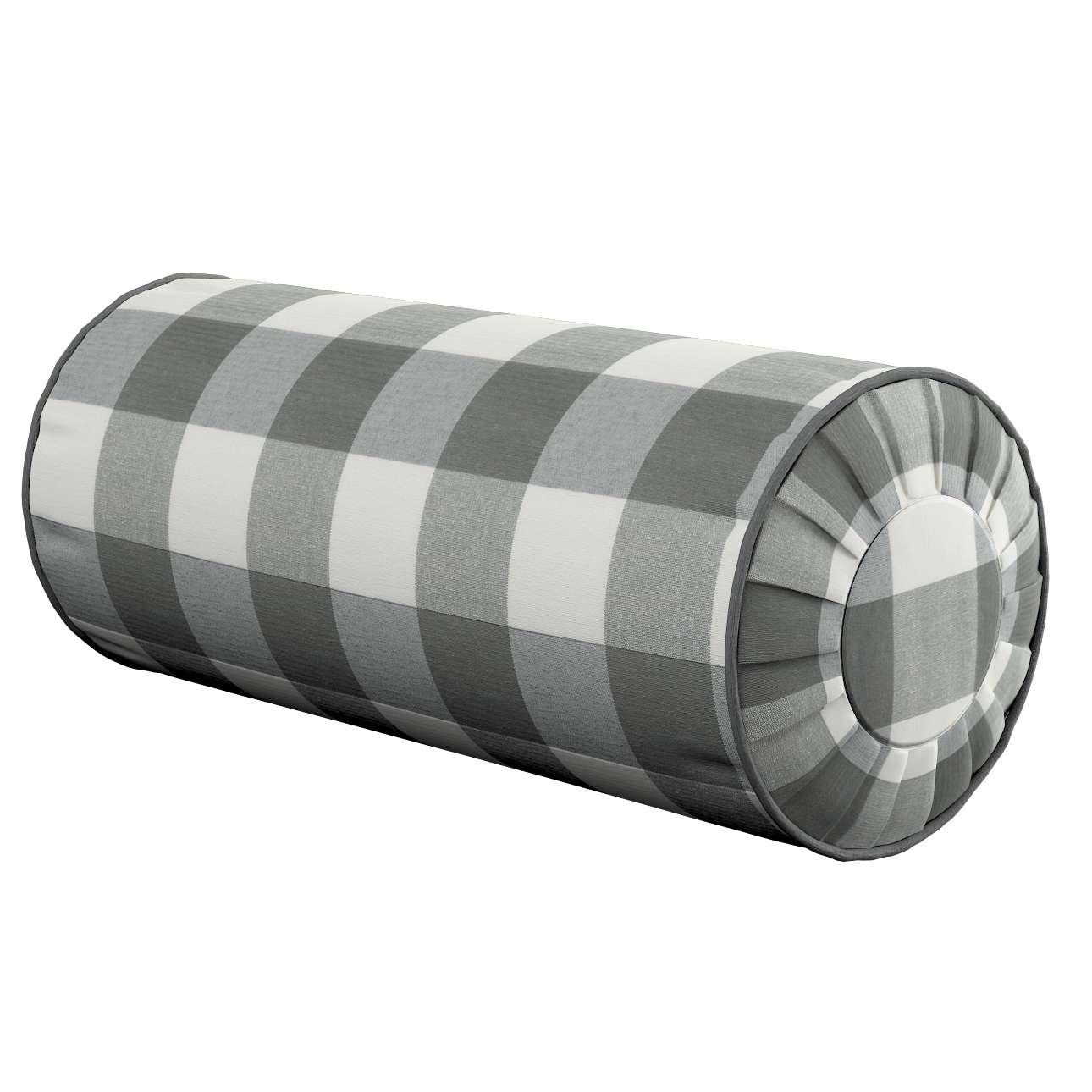 Ritinio formos  pagalvėlė su klostėmis Ø 20 x 50 cm kolekcijoje Quadro, audinys: 136-13