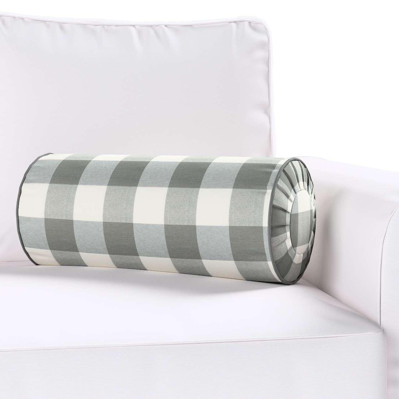 Ritinio formos  pagalvėlės užvalkalas su klostėmis Ø 20 x 50 cm kolekcijoje Quadro, audinys: 136-13