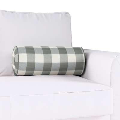 Poduszka wałek z zakładkami w kolekcji Quadro, tkanina: 136-13