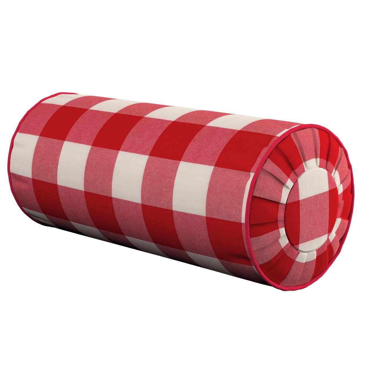 Ritinio formos  pagalvėlės užvalkalas su klostėmis Ø 20 x 50 cm kolekcijoje Quadro, audinys: 136-18