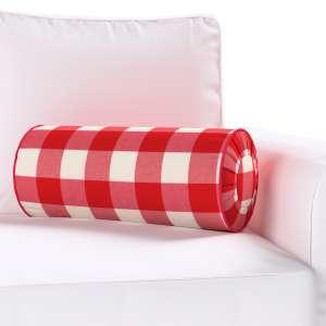 Ritinio formos  pagalvėlė su klostėmis Ø 20 x 50 cm kolekcijoje Quadro, audinys: 136-18
