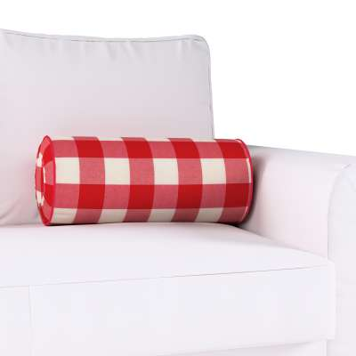 Poduszka wałek z zakładkami w kolekcji Quadro, tkanina: 136-18