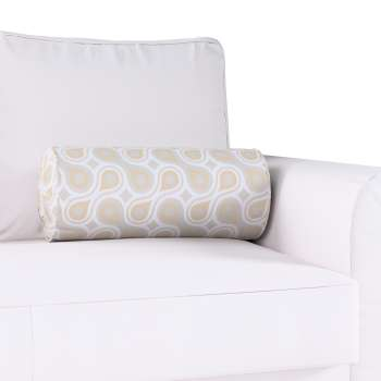Bolster cushion with pleats Ø 20 x 50 cm (8 x 20 inch) in collection Flowers, fabric: 311-11