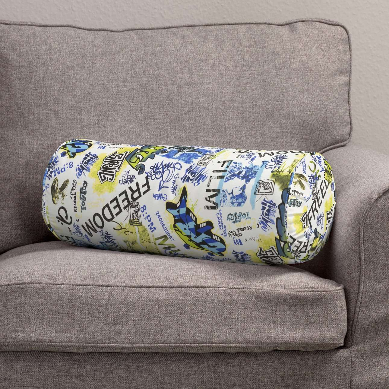 Bolster cushion with pleats in collection Freestyle, fabric: 135-08