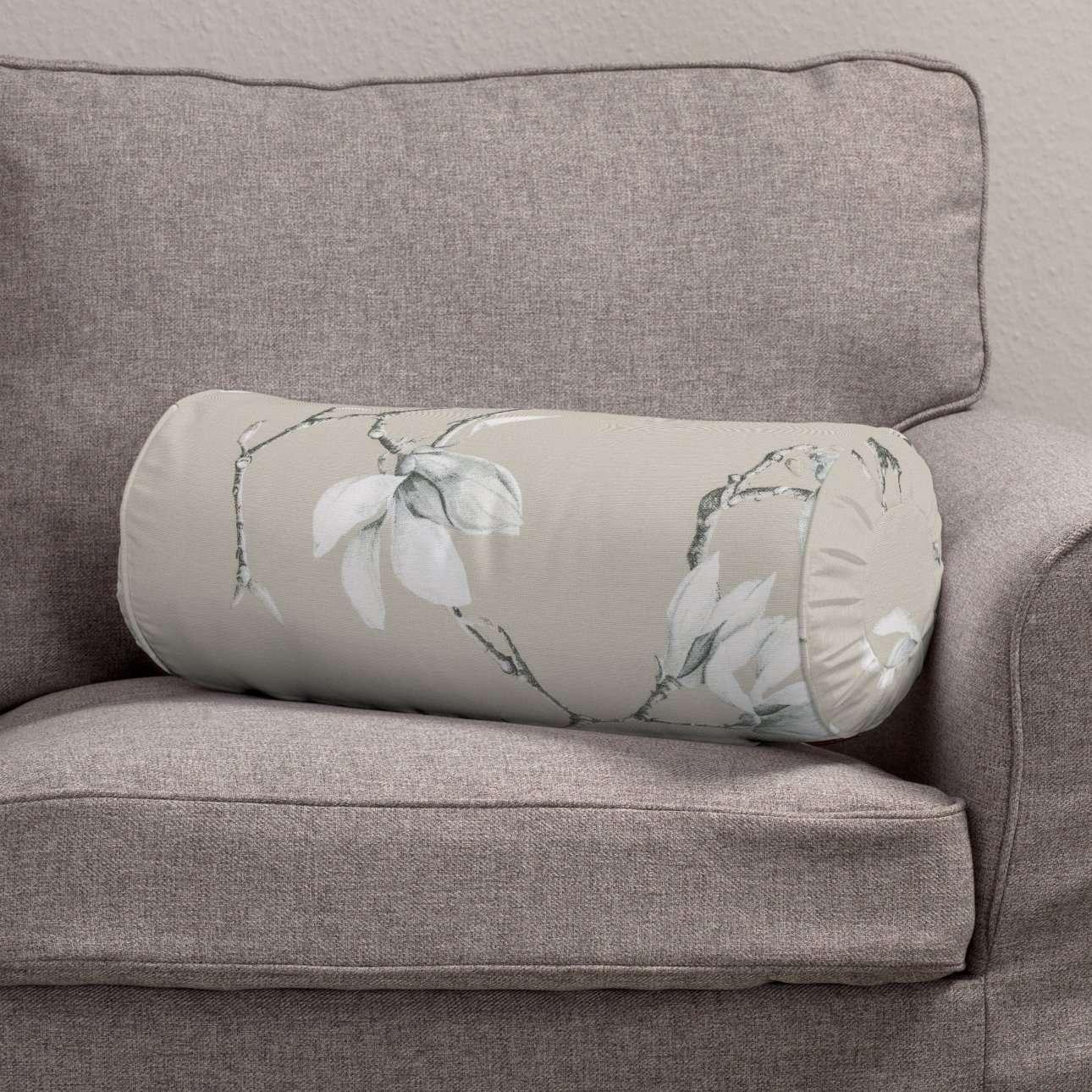 Poduszka wałek z zakładkami Ø 20 x 50 cm w kolekcji Flowers, tkanina: 311-12