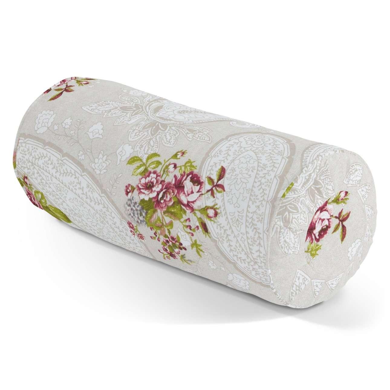 Poduszka wałek z zakładkami w kolekcji Flowers, tkanina: 311-15