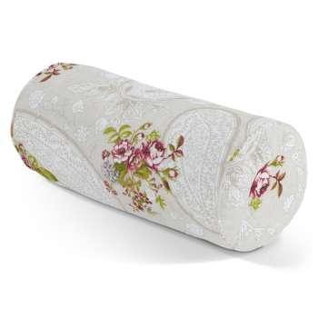 Poduszka wałek z zakładkami Ø 20 x 50 cm w kolekcji Flowers, tkanina: 311-15