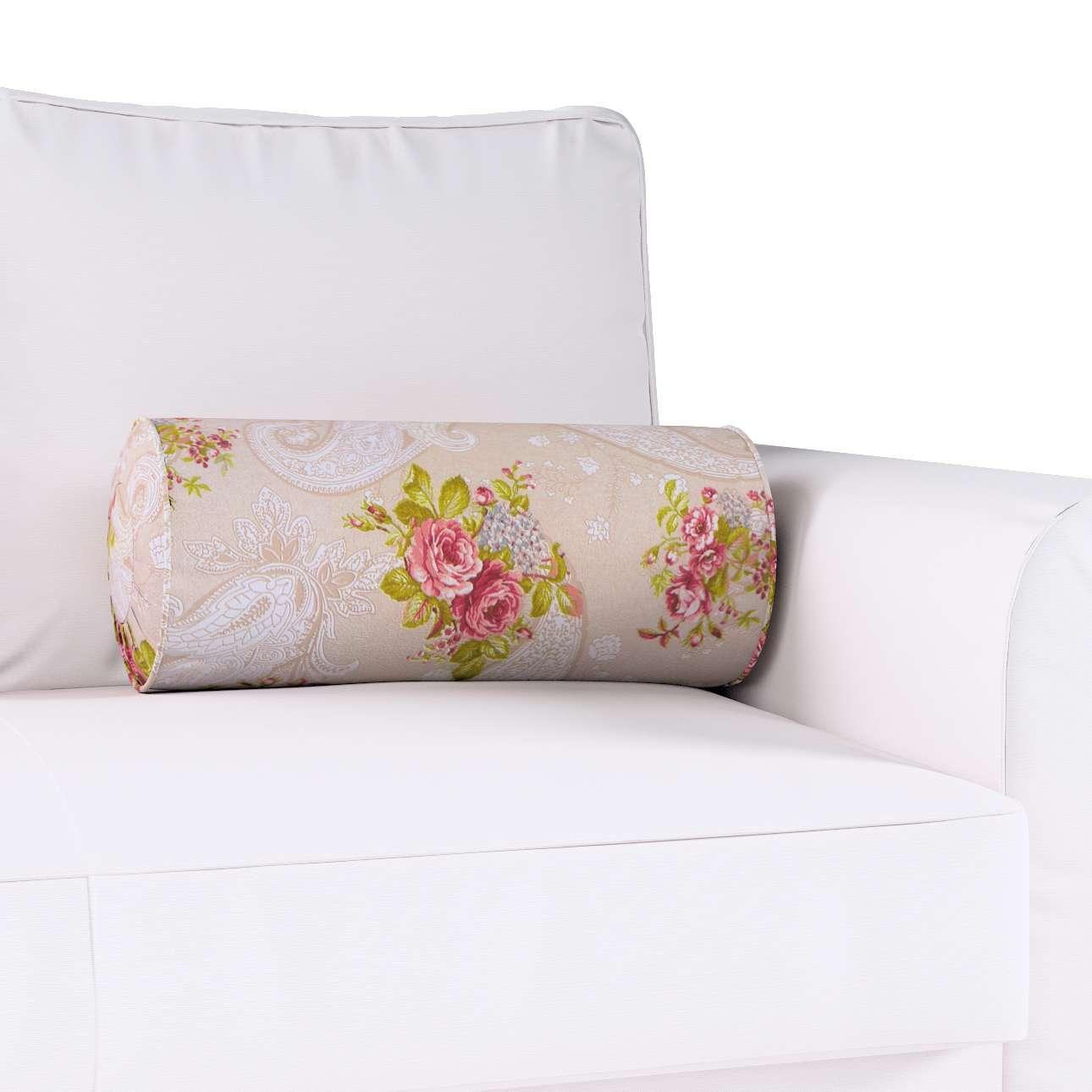 Ritinio formos  pagalvėlė su klostėmis Ø 20 x 50 cm kolekcijoje Flowers, audinys: 311-15