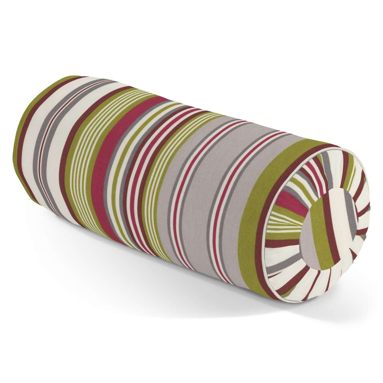 Bolster cushion with pleats in collection Flowers, fabric: 311-16