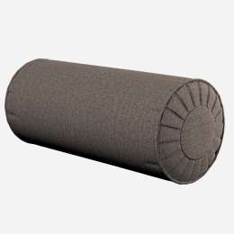 Roll cushion with pleats