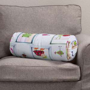 Bolster cushion with pleats Ø 20 x 50 cm (8 x 20 inch) in collection Apanona, fabric: 151-04