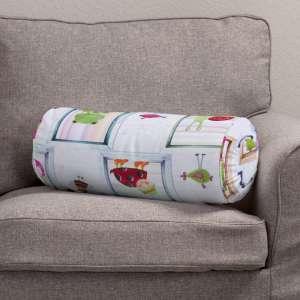 Ritinio formos  pagalvėlė su klostėmis Ø 20 x 50 cm kolekcijoje Apanona, audinys: 151-04