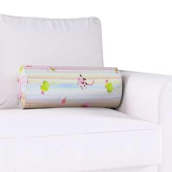 Ritinio formos  pagalvėlė su klostėmis Ø 20 x 50 cm kolekcijoje Apanona, audinys: 151-05