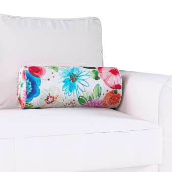 Bolster cushion with pleats in collection New Art, fabric: 140-24