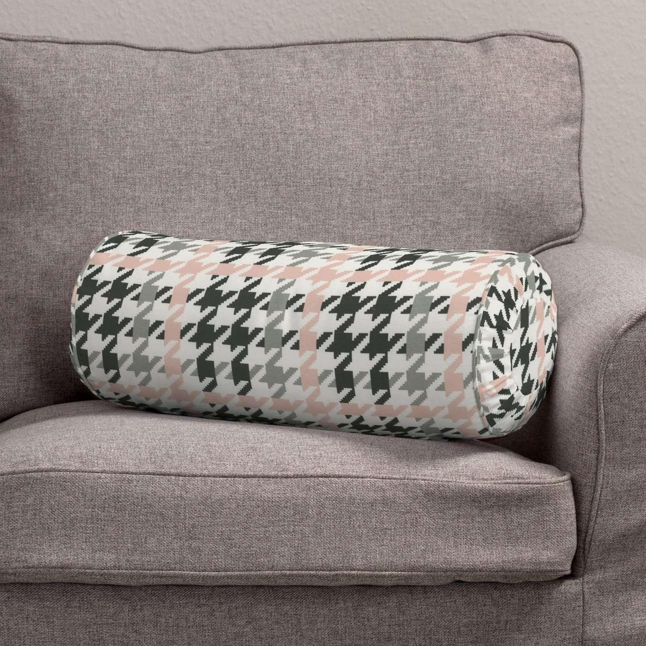 Ritinio formos  pagalvėlė su klostėmis Ø 20 x 50 cm kolekcijoje Brooklyn, audinys: 137-75