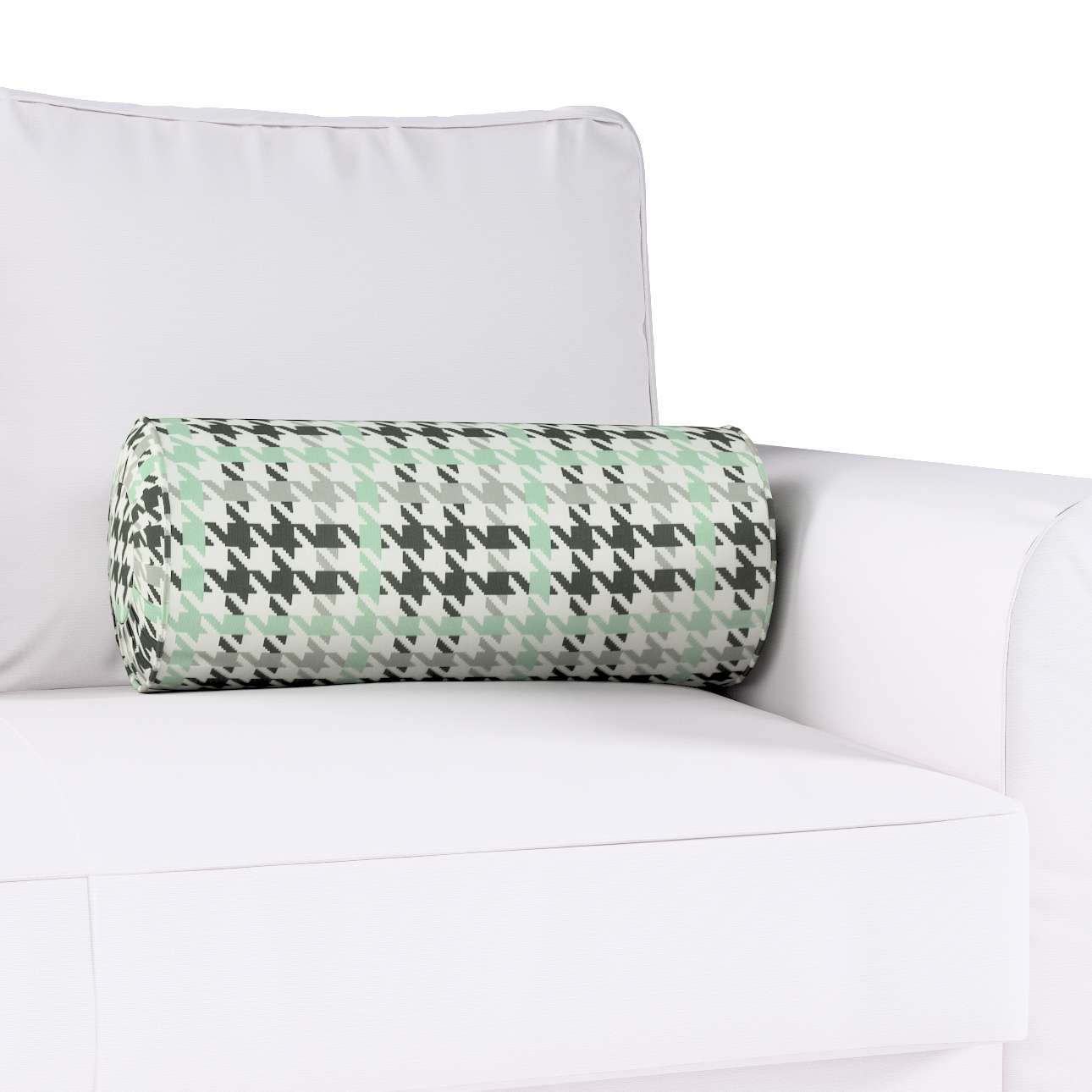 Bolster cushion with pleats Ø 20 x 50 cm (8 x 20 inch) in collection Brooklyn, fabric: 137-77