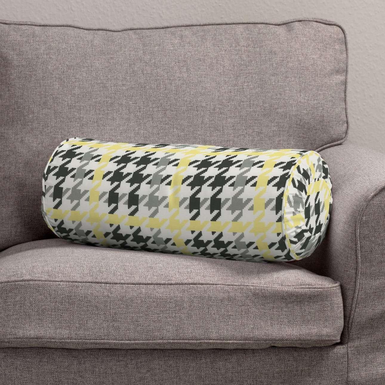 Ritinio formos  pagalvėlės užvalkalas su klostėmis Ø 20 x 50 cm kolekcijoje Brooklyn, audinys: 137-79