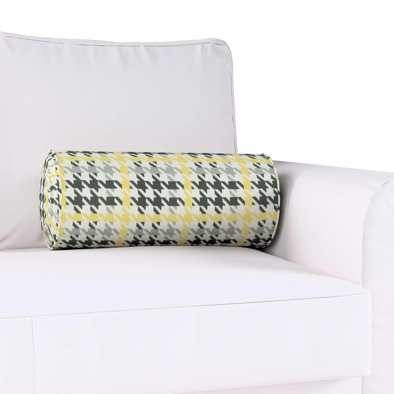 Poduszka wałek z zakładkami w kolekcji Brooklyn, tkanina: 137-79