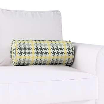 Poduszka wałek z zakładkami Ø20x50cm w kolekcji Brooklyn, tkanina: 137-79