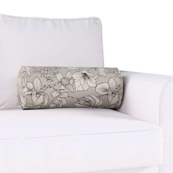 Bolster cushion with pleats Ø 20 x 50 cm (8 x 20 inch) in collection Brooklyn, fabric: 137-80