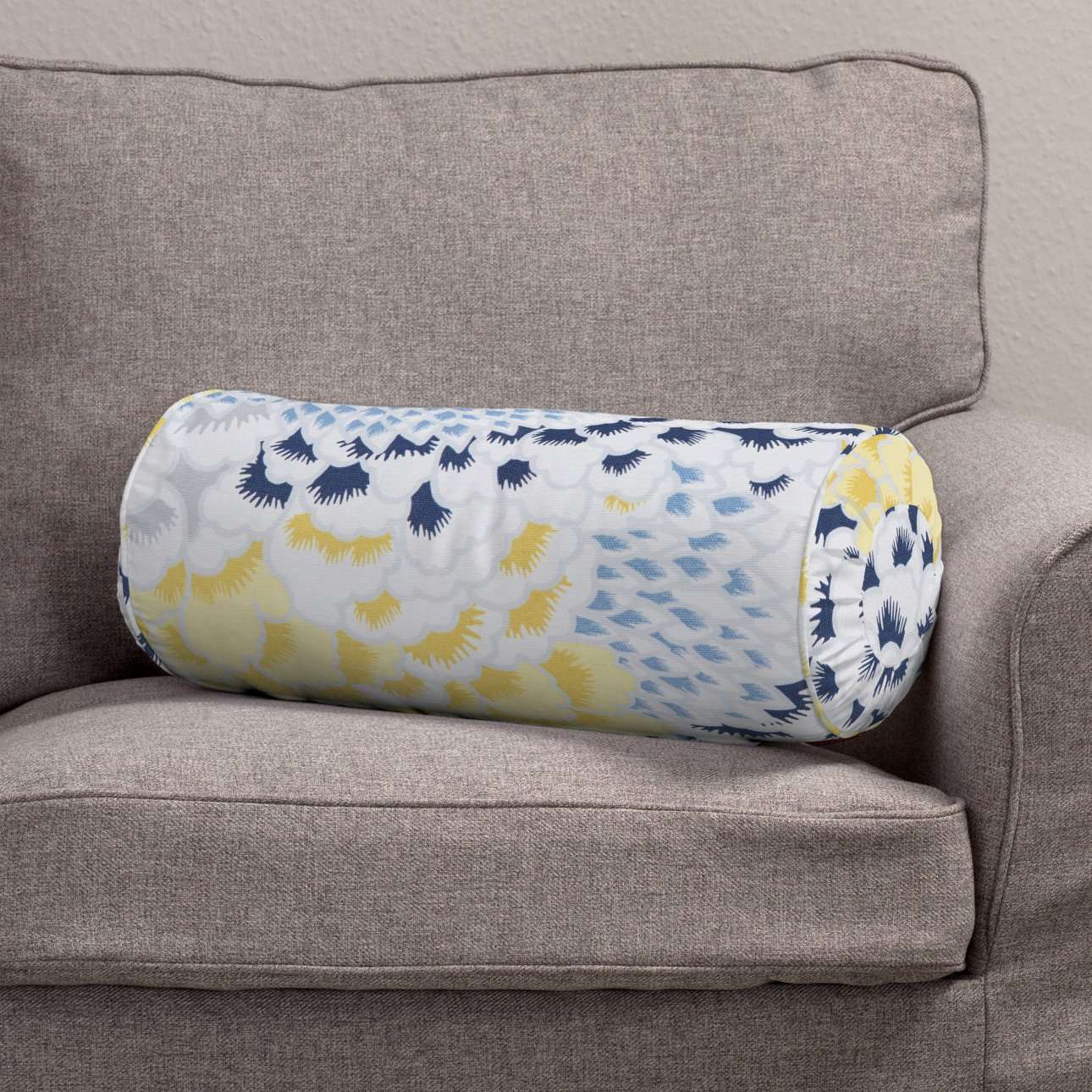 Bolster cushion with pleats in collection Brooklyn, fabric: 137-86
