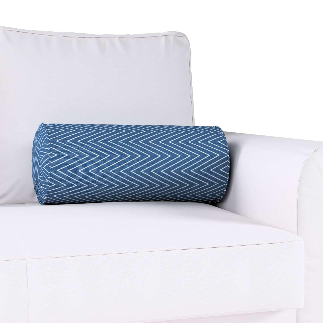 Poduszka wałek z zakładkami w kolekcji Brooklyn, tkanina: 137-88