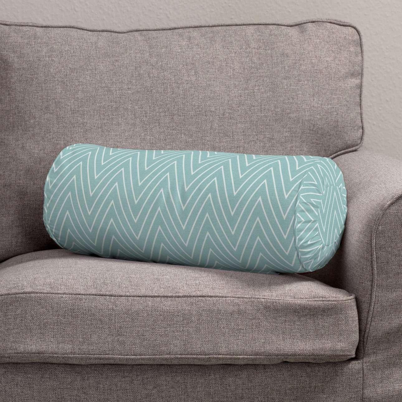 Ritinio formos  pagalvėlės užvalkalas su klostėmis Ø 20 x 50 cm kolekcijoje Brooklyn, audinys: 137-90