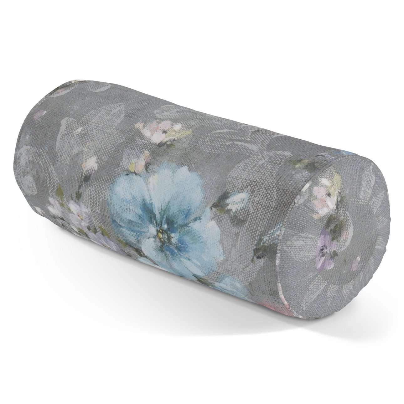 Poduszka wałek z zakładkami Ø 20 x 50 cm w kolekcji Monet, tkanina: 137-81