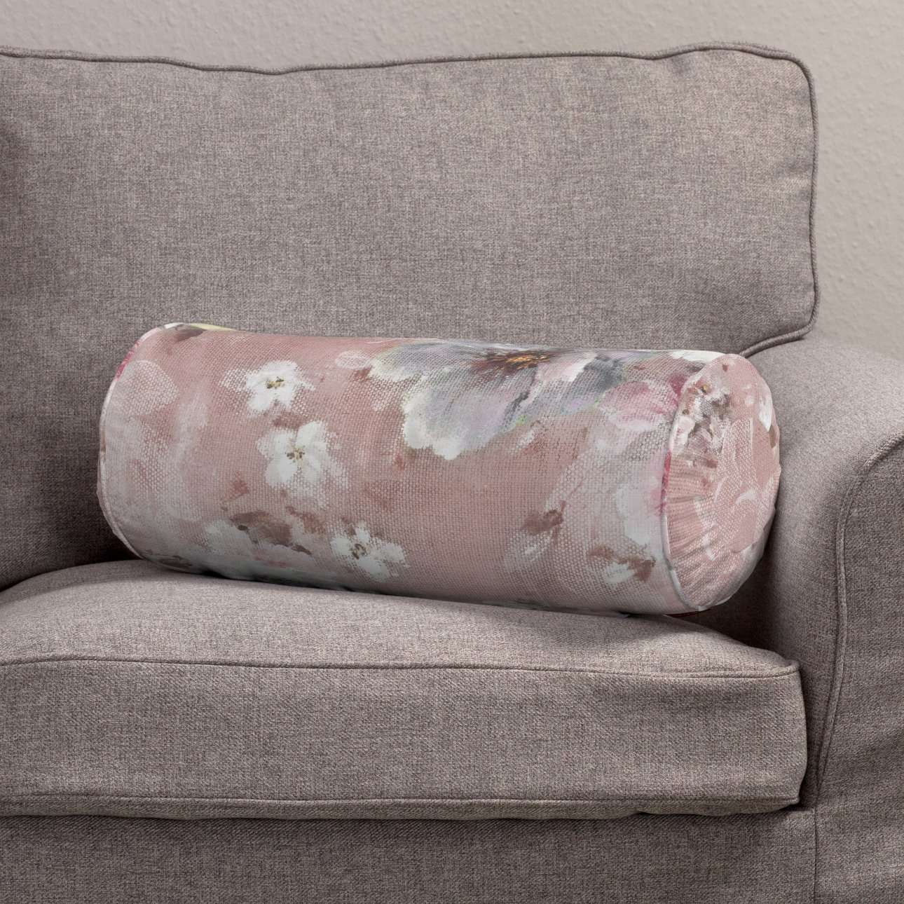 Ritinio formos  pagalvėlė su klostėmis Ø 20 x 50 cm kolekcijoje Monet, audinys: 137-83