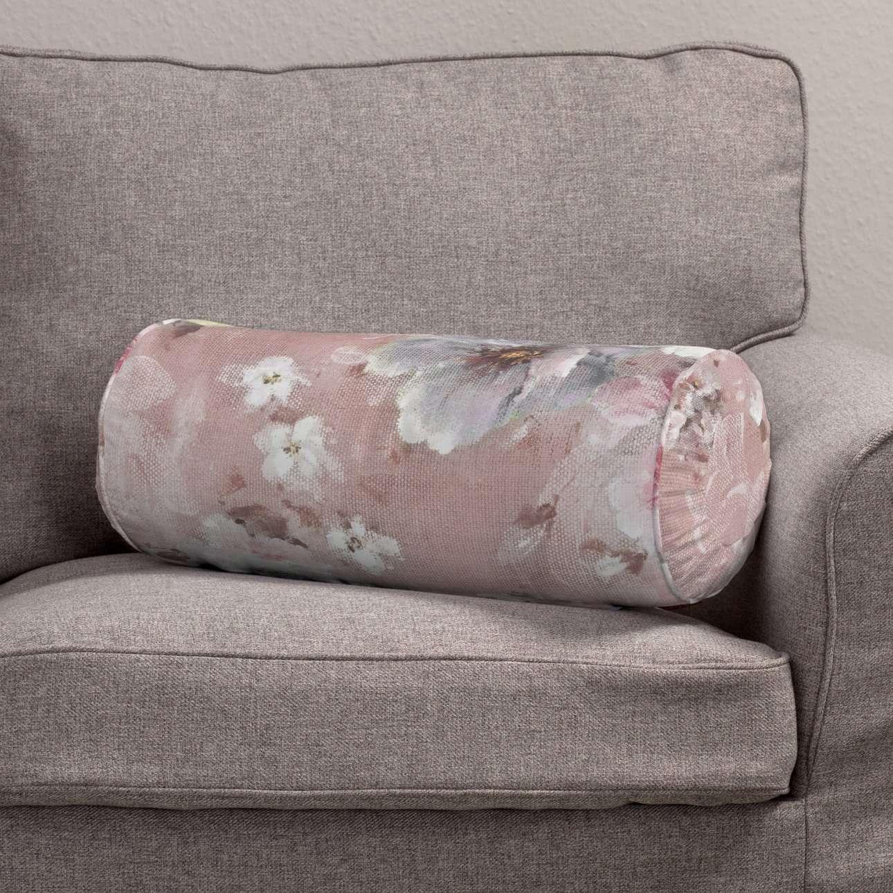 Ritinio formos  pagalvėlės užvalkalas su klostėmis Ø 20 x 50 cm kolekcijoje Monet, audinys: 137-83