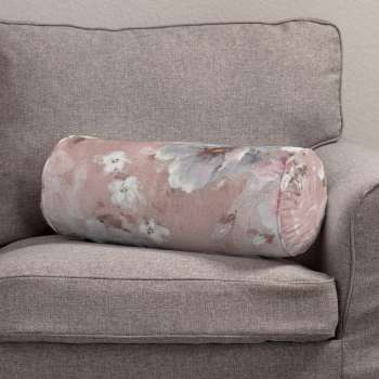 Bolster cushion with pleats Ø 20 × 50 cm (8 × 20 inch) in collection Monet, fabric: 137-83
