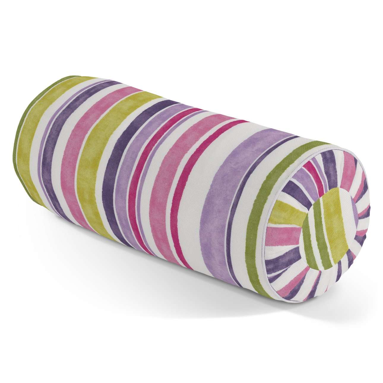 Bolster cushion with pleats Ø 20 x 50 cm (8 x 20 inch) in collection Monet, fabric: 140-01
