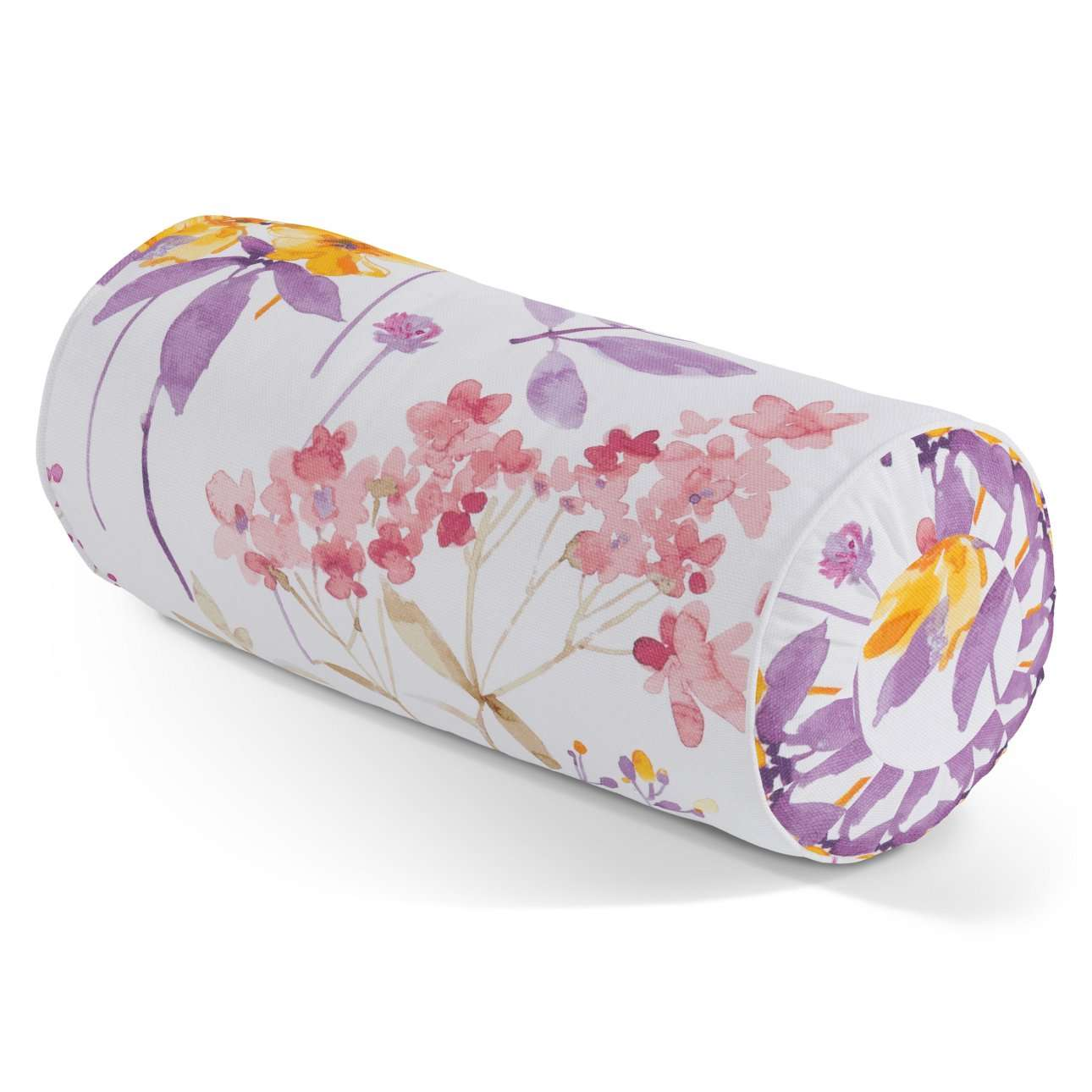 Bolster cushion with pleats in collection Monet, fabric: 140-04