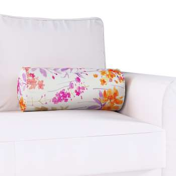 Bolster cushion with pleats Ø 20 × 50 cm (8 × 20 inch) in collection Monet, fabric: 140-04
