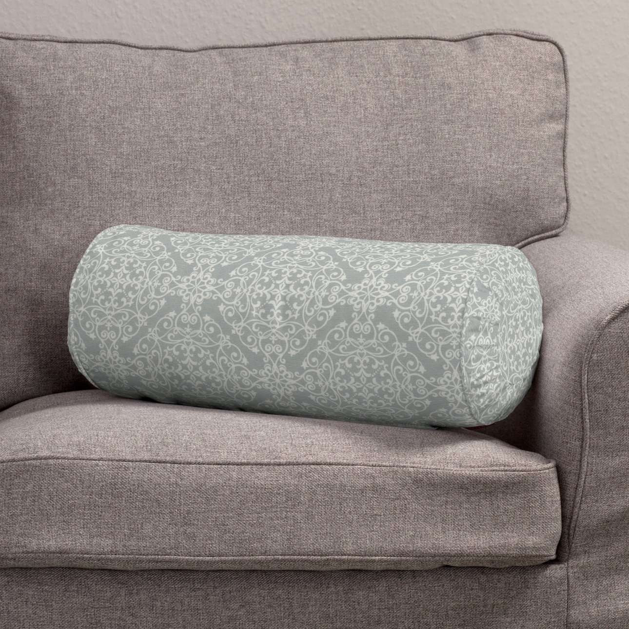 Ritinio formos  pagalvėlės užvalkalas su klostėmis Ø 20 x 50 cm kolekcijoje Flowers, audinys: 140-38