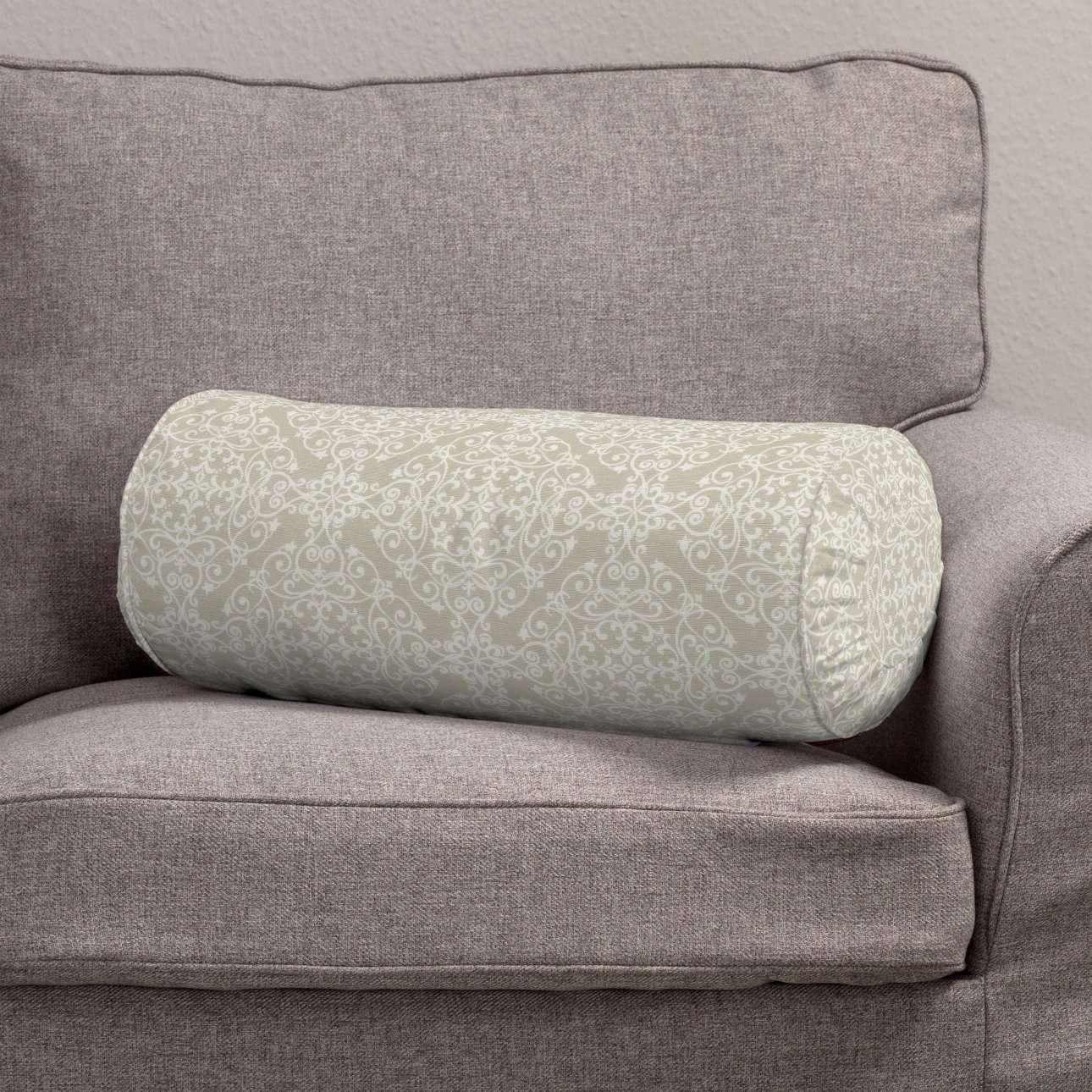 Ritinio formos  pagalvėlės užvalkalas su klostėmis Ø 20 x 50 cm kolekcijoje Flowers, audinys: 140-39