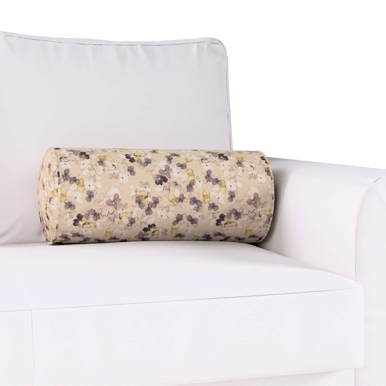 Bolster cushion with pleats in collection Londres, fabric: 140-48