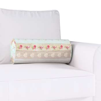 Bolster cushion with pleats Ø 20 x 50 cm (8 x 20 inch) in collection Ashley, fabric: 140-20